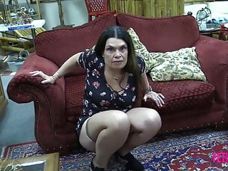 Brunette Milf Mature video: Fetish Freak Scene Flashing my pussy in store
