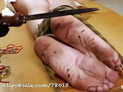 BAREFOOT ANGELICA TORMENT (day 4) red hot iron under feet