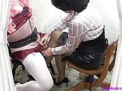 Nogi Femdom Cum On Mistress Rajstopy