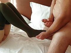 Sperma auf meine Füße