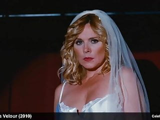Striptease Celebrity Mature video: Celebrity Kim Cattrall Stripping Hot In Silk Lingerie