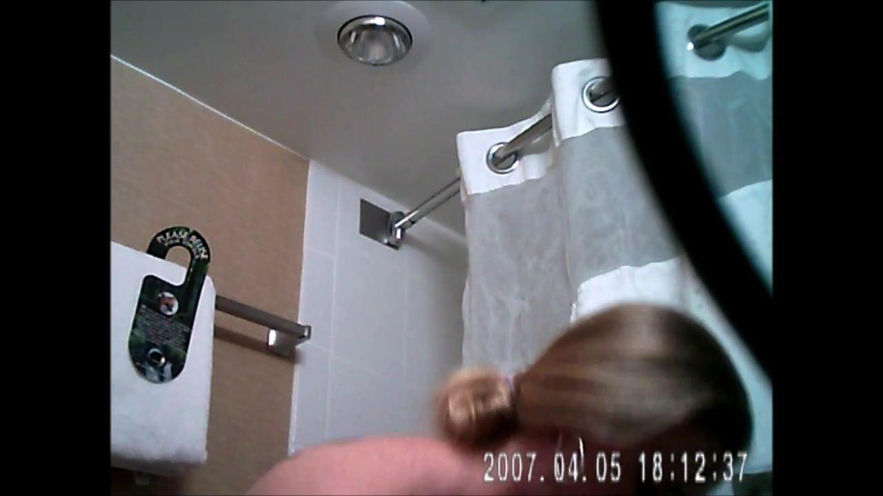 Hidden Shower Spy Cam Caught Or Maybe Not Lol Hidden Camera
