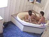 Cousin Leti and boyfriend in the bathtub