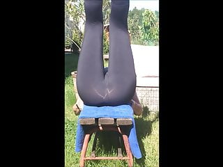 Milf Pantyhose Wife video: wifey's exercise in yogapants