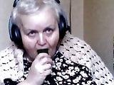 obbedient granny gag her self
