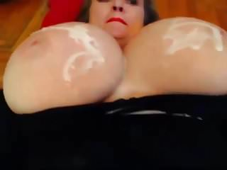 Big Boobs Bbw Massive video: Massive Tits Cum Covered 3