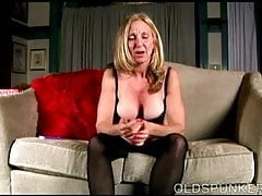 Naughty old spunker loves to talk dirty and wank