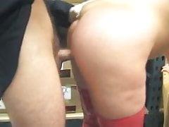 Hot Mature Cougar Cynthia Hammers Banging in Warehouse