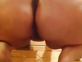 grandma with fat oily booty