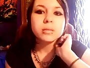Elizabeth Douglas 3rd video on webcam tell about her smoking