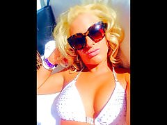 Melissa Hardbody Goes Nuts Tiny White String Bikini