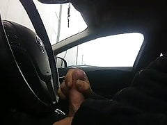 Cumshot In Car