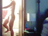 Unaware wife caught nude again 2