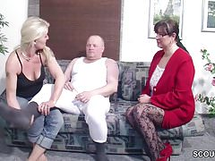 German Husband Get First Threesome by Wife and her Friend