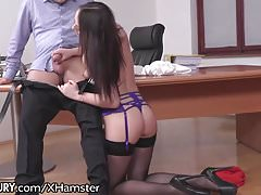 Russian Secretary Fulfills Bosses Anal Demands