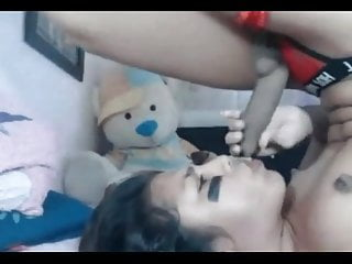 Masturbation Shemale Small Tits Shemale Solo Shemale video: A trap selfsucks and cums in her own mouth