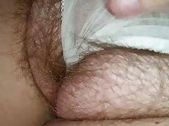 un altro della sua figa pelosa che la mangia attraverso i panty