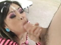 Gigantic CFNM blowjob facial # 2
