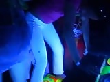 Upskirt minifalda disco club