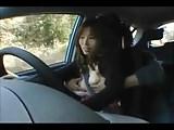 More tit groping of Japanese girl car driver