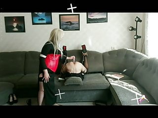 Bdsm Femdom Blonde video: Mistress Lady V and officer Nova nyx