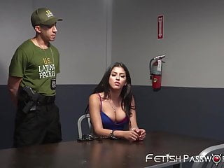 Bondage Huge Slut video: Latina slut has to suck a huge cock to get out of jail