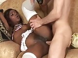 slutty ebony maid getting her asshole pumped by her boss