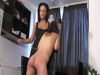 Spanking Lesbian Slave video: Lezdom mistress 4 - Caning and Spanking