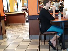 Candid EMO Ballet Flats Heel Popping