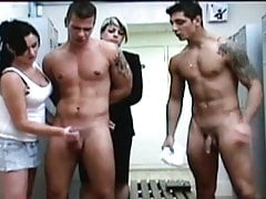 CFNM Slow Motion Cum Fountain Handjob