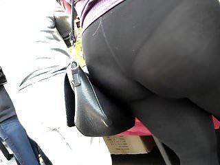 Bbw Big Ass Really video: Really tight jean and seethru leggings