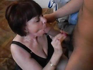Interracial Milf porno: Mature Milf Sucking Big Black Cock Hard