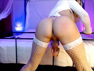 Amateur Shemale Masturbation Shemale Hd Videos video: Shemale Teen In Stockings Cumming On The Floor