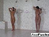 Asa has some lesbian fun with Devi