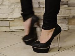 Seksowne brunetka stóp