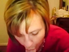 Dirty talking wife loves sucking cock for cum