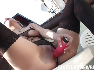 Blowjobs Threesomes movie: Can you handle such a big cock for your first bisexual three