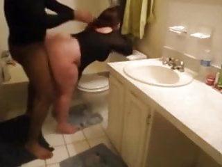 Bbw Big Cock Big Tits video: Huge white mom bbw ass get fucked in bathroom
