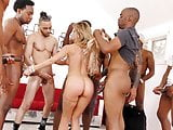 BBC Slut Cherie DeVille Deepthroats Many Big Black Dicks