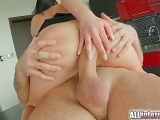 All Internal dark haired hottie takes an anal creampie