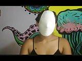 Asian girls wearing underwear masks 2