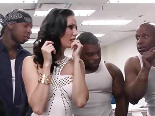 Gangbang Interracial Hardcore video: Three Black Prisoners for a White Slut