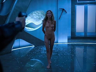 Dichen Lachmans Nude Fight Scene from Altered Carbon