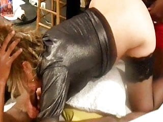 Interracial Tits video: bbc 3sum for  french slut wife lisa