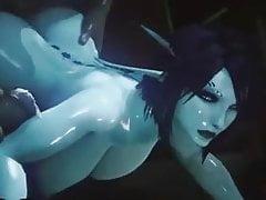 Schöne blaue Titten