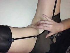 430 PRIVE stocking and masturbation