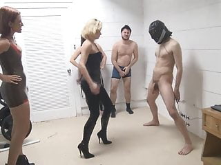 Bdsm Milf Slave video: Ball Busting Madness