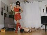 Red PVC Mistress