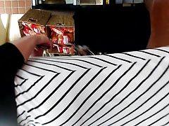 Gruby tyłek PAWG w sukience