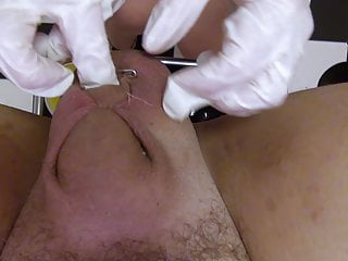 Bdsm Femdom Blonde video: Super nurse, CBT, sewing, needle, fisting, straight video